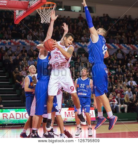 Bc Krasnye Krylia Guard Evgeny Chebanenko (9) With Ball