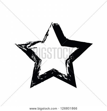 grunge star vector. Five-pointed star. Vector star symbol. The heavenly stars. Soviet and American star