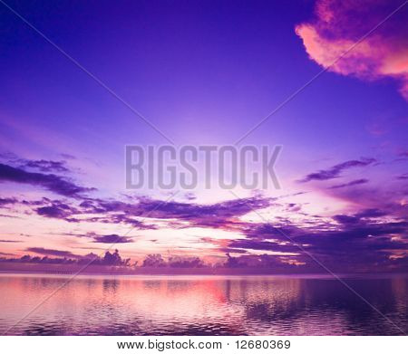 Deeply purple suset