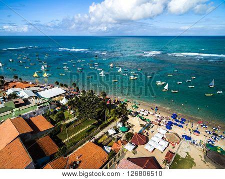 Aerial View of Porto de Galinhas, Pernambuco, Brazil