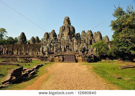 Bayon Temple At Angkor Thom, Angkor
