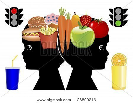 Teaching Kids Eating Habits. Children learn long life food habits in early childhood education