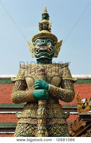Giant Statue At Grand Place, Thailand