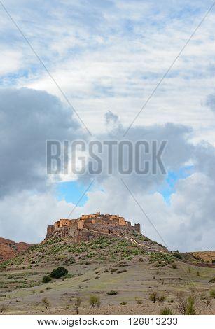 Kasbah Tizourgane in south of Marrakech Anti-Atlas Mountains Morocco