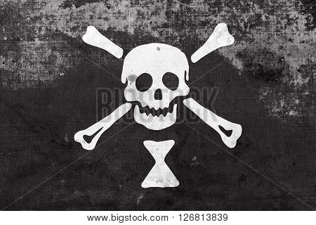 Emanuel Wynn Pirate Flag With A Vintage And Old Look