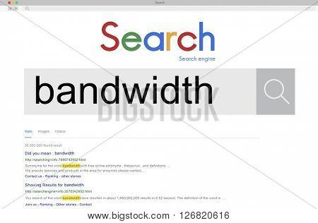 Bandwidth Internet Connection Online Technology Concept
