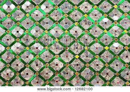Texture art thai style on the wall in Wat Phra Kaew