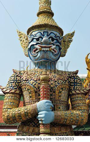 Giant Statue in Wat Phra Keaw Thailand
