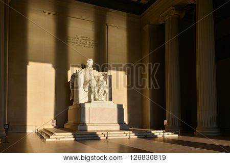 Lincoln Memorial in shadows - Washington DC, United States