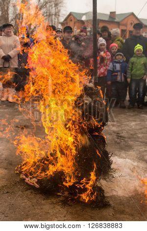 Russians Celebrate Maslenitsa Sun Festival