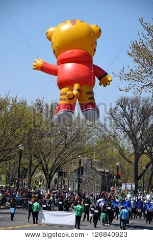 WASHINGTON, DC - APR 16: Balloon at The 2016 National Cherry Blossom Parade in Washington DC, as seen on April 16, 2016. Thousands of visitors gathered to attend this annual event.