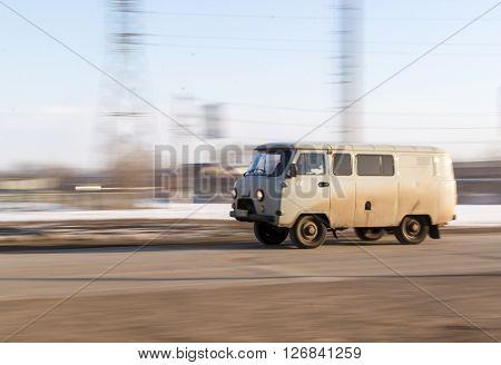 Russian Speeding Uaz Vehicle