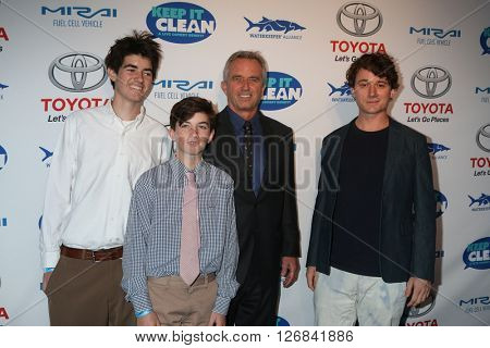 LAS VEGAS - APR 21:  Conor Richard Kennedy, Aiden Kennedy, Robert F. Kennedy, Jr. and Bobby Kennedy III at the Keep It Clean Comedy Benefit at the Avalon Hollywood on April 21, 2016 in Los Angeles, CA