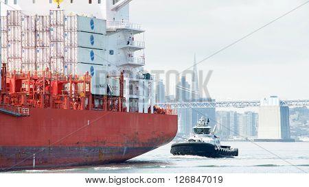 Cargo Ship Cap Portland En Route To The Port Of Oakland