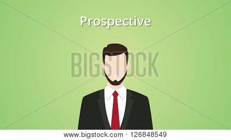 prospective client illustration businessman vector illustration green background