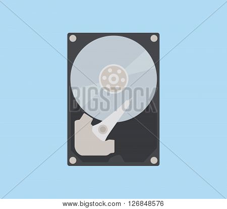 hdd isolated object with flat style vector illustration poster