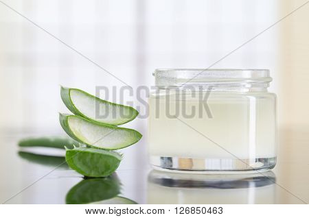 extract of aloe for natural cosmetic and alternative medicine ** Note: Shallow depth of field