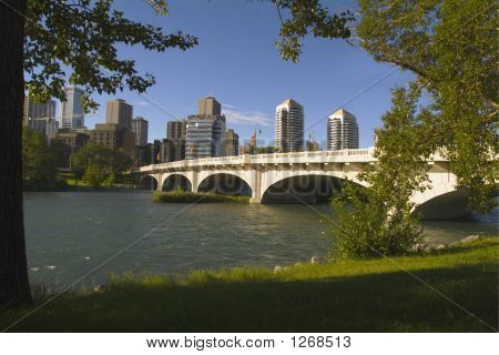 Louise Riley Bridge Over Bow River, Calgary