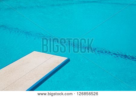 Swimming pool series : Springboard above swimming pool