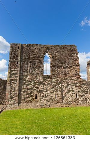 Welsh castle ruins Monmouth Wales uk historic Welsh tourist attraction Wye Valley poster