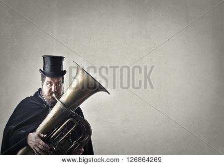 Man playing trombone