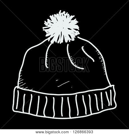 Simple Doodle Of A Bobble Hat
