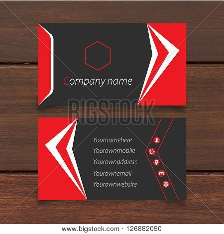 visiting card design 100%vector can re editable and re sizable all