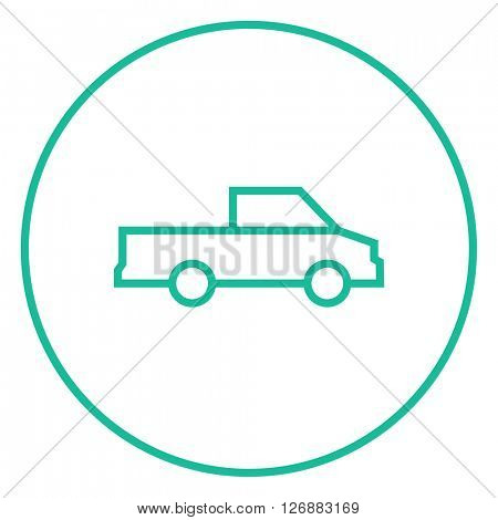Pick up truck line icon.