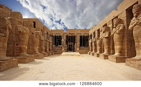 Ancient Temple of Karnak in Luxor, Egypt ** Note: Visible grain at 100%, best at smaller sizes