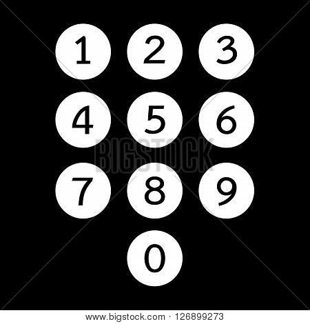 an images of keypad icon illustration design