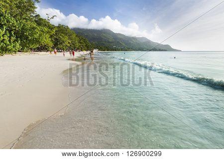 Beau Vallon Beach, Mahe, Seychelles, Editorial