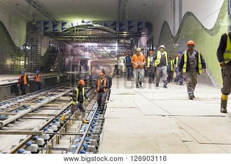Underground Subway Tunnel Workers