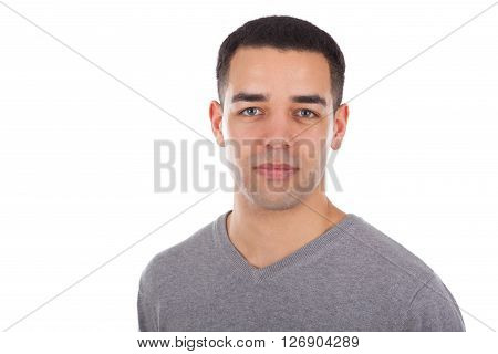 Young Latin American Man Portrait Isolated On White Background