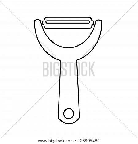 an images of Potato peeler icon Illustration design