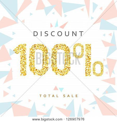 Discount 100. Discounts price tag. Golden discount. Black Friday. Clearance Sale. Discount coupon. Discount gold. Sale discount