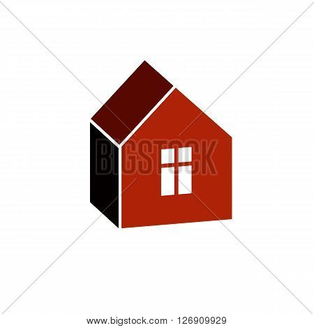 Simple house icon for graphic design mansion conceptual symbo vector property image.