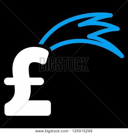 Fortune Falling Pound vector icon. Fortune Falling Pound icon symbol. Fortune Falling Pound icon image. Fortune Falling Pound icon picture. Fortune Falling Pound pictogram.