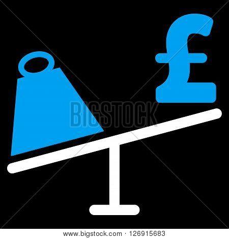 Market Pound Price Swing vector icon. Market Pound Price Swing icon symbol. Market Pound Price Swing icon image. Market Pound Price Swing icon picture. Market Pound Price Swing pictogram.
