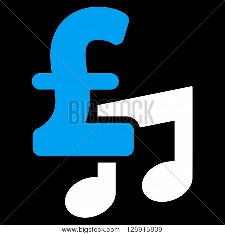Music Pound Price vector icon. Music Pound Price icon symbol. Music Pound Price icon image. Music Pound Price icon picture. Music Pound Price pictogram. Flat music pound price icon.