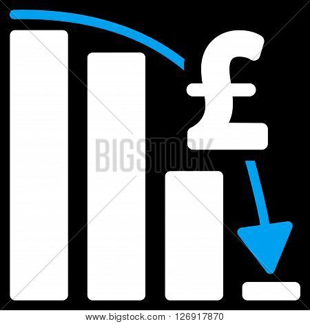 Pound Financial Epic Fail vector icon. Pound Financial Epic Fail icon symbol. Pound Financial Epic Fail icon image. Pound Financial Epic Fail icon picture. Pound Financial Epic Fail pictogram.
