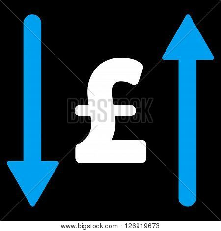 Pound Swap vector icon. Pound Swap icon symbol. Pound Swap icon image. Pound Swap icon picture. Pound Swap pictogram. Flat pound swap icon. Isolated pound swap icon graphic.