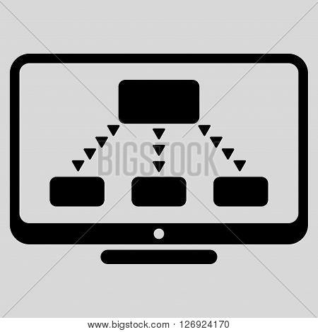 Hierarchy Monitoring vector icon. Hierarchy Monitoring icon symbol. Hierarchy Monitoring icon image. Hierarchy Monitoring icon picture. Hierarchy Monitoring pictogram.