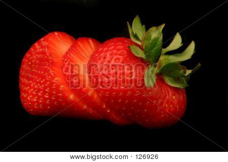 Strawberry On Black