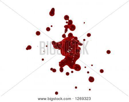 3d rendered illustration of a red splash poster