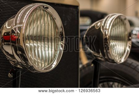 1924 Rools Royce Silver Ghost front head lights.
