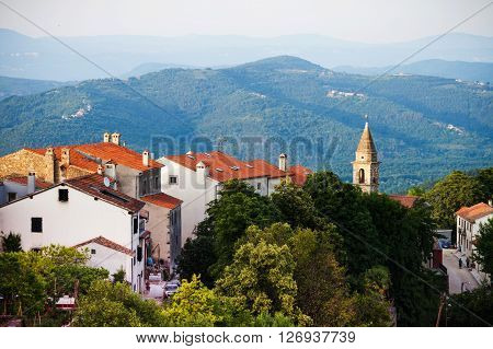 Motovun is a village in central Istria Croatia. City view
