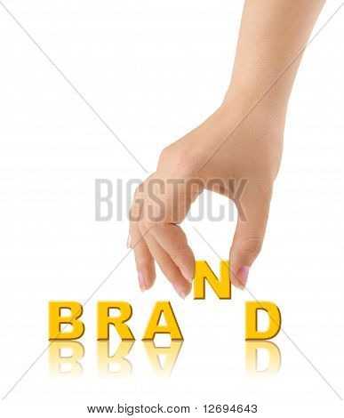 Hand and word Brand