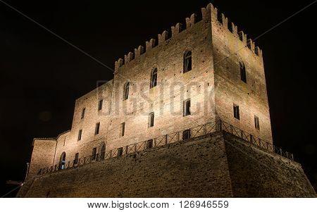 The Malatesta castle in Mondaino (Rimini), Italy