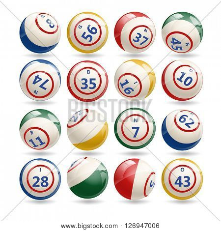 Big Set of Lottery Bingo Billiard Balls