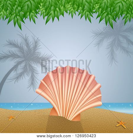 an illustration of Shell on the beach